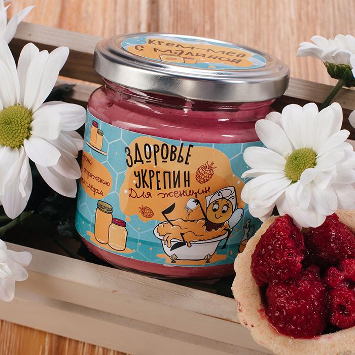 Купить крем-мед суфле в Перми ЗДОРОВЬЕУКРЕПИН С МАЛИНОЙ