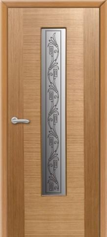 Дверь 8ДО1 (светлый дуб, остекленная шпонированная), фабрика Владимирская фабрика дверей