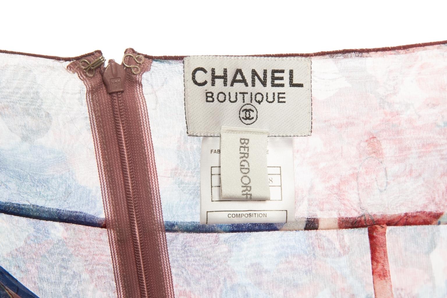 Легкое летнее платье из шелка от Chanel, 36 размер.