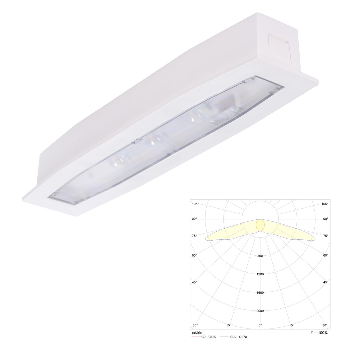 Встраиваемые аварийные светильники с аккумулятором Suprema LED SC PT IP54 Intelight – внешний вид