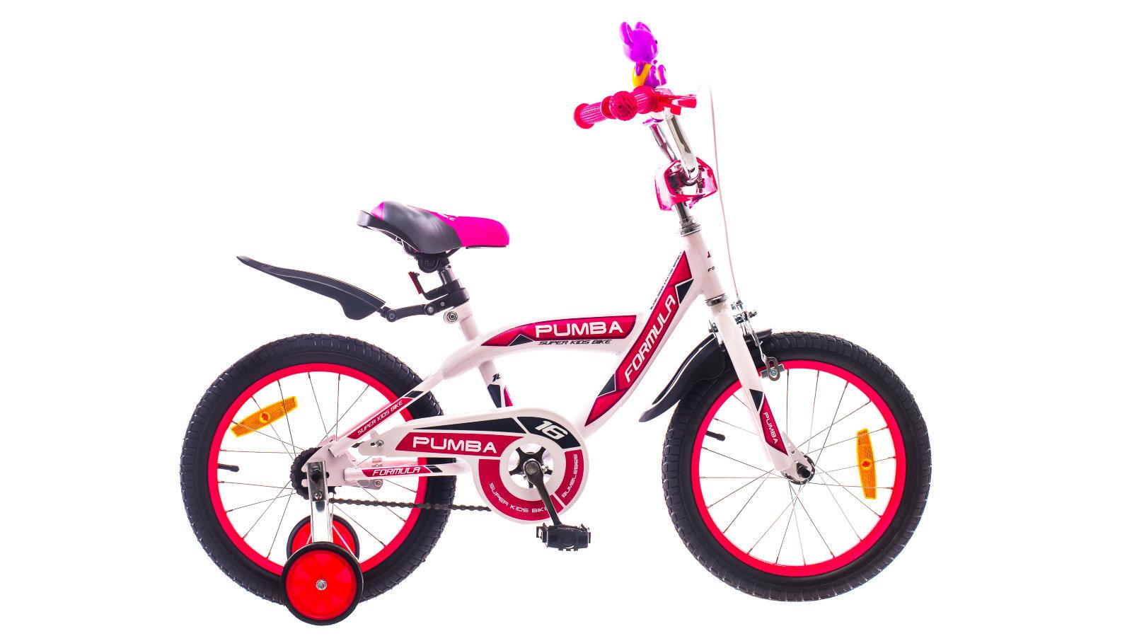 Бело-красный детский велосипед Formula Pumba