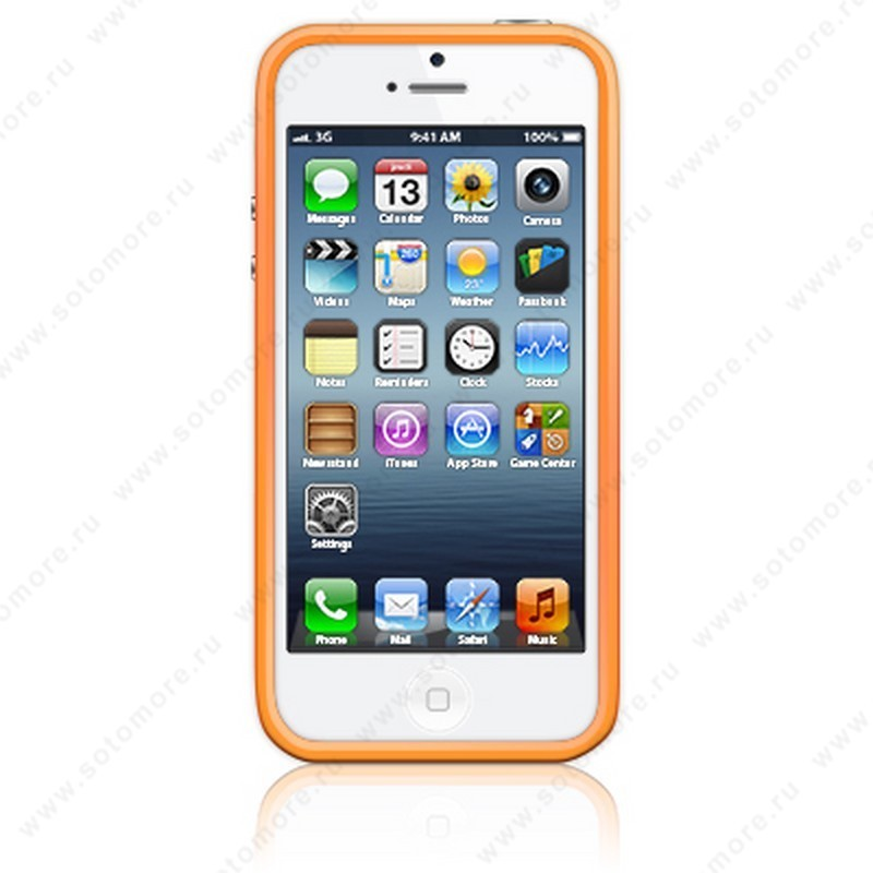 Бампер Apple для Apple iPhone SE/ 5s/ 5C/ 5 Bumpers оранжевый