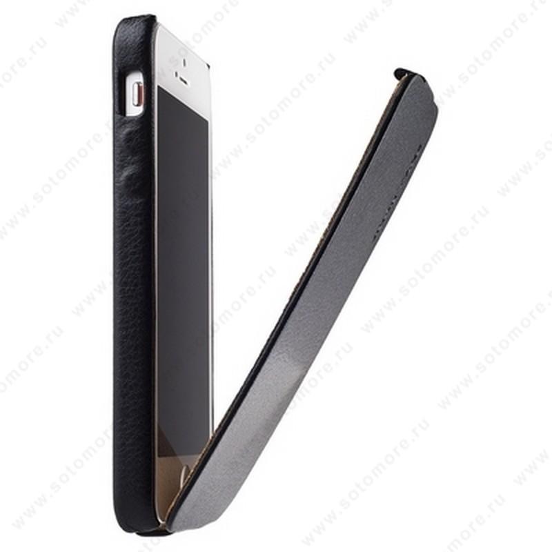 Чехол-флип Jisoncase для iPhone SE/ 5s/ 5C/ 5 цвет черный JS-IP5-07H