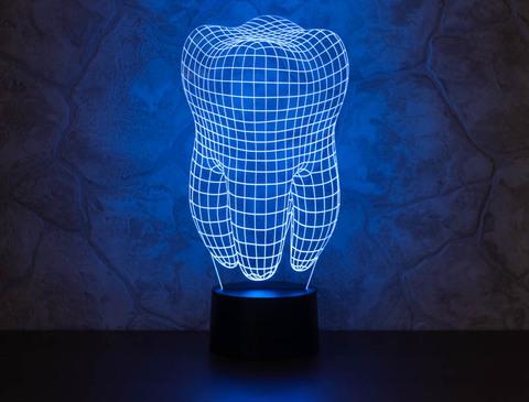 3D ночник Зуб