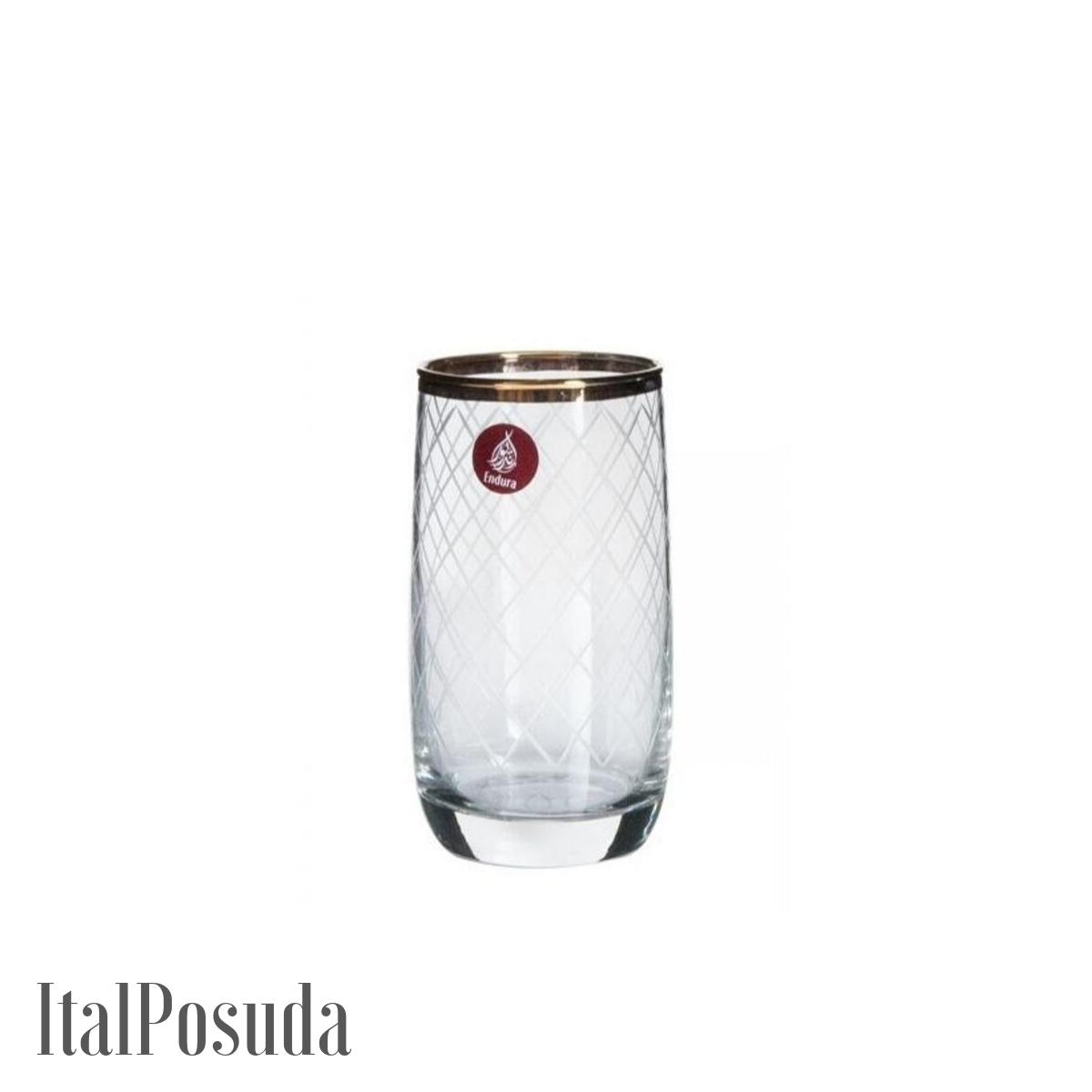 Набор стаканов Endura Gold Net Endura Premium (Голд Нет Эндура Премиум), 6 шт K6517