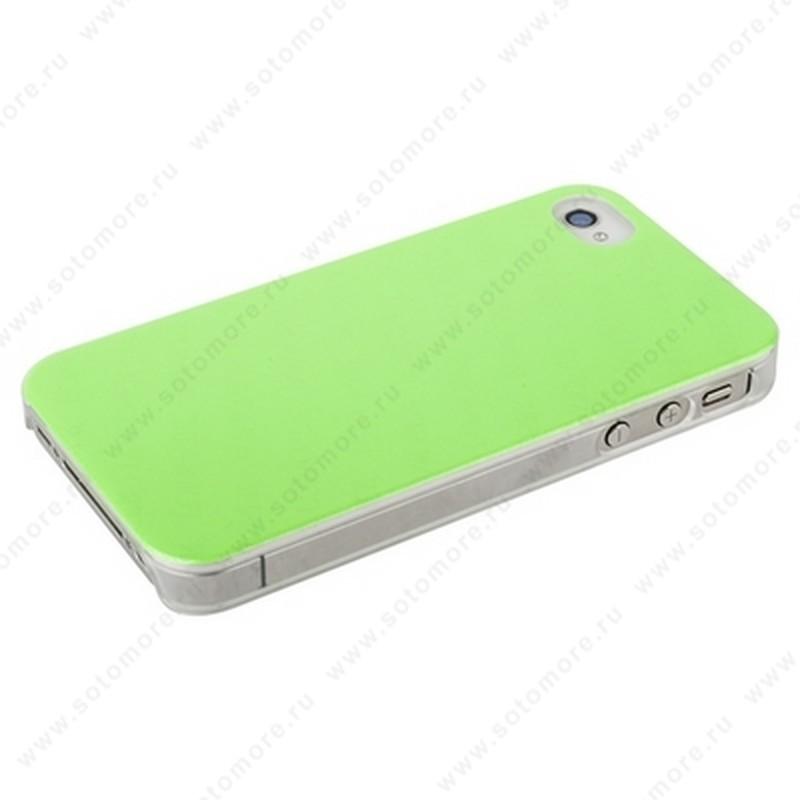 Накладка POMOSER для iPhone 4s/ 4 зеленая