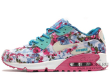 Кроссовки Женские Nike Air Max 90 Essential Blue Coral Flower Print