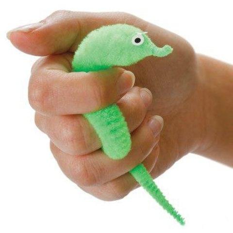 Игрушка Змейка пушистик  веселый червячок