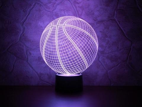 3D ночник Баскетбольный мяч