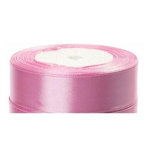 Лента атласная (размер:25мм х 25 ярдов) Цвет:светло-розовый_1
