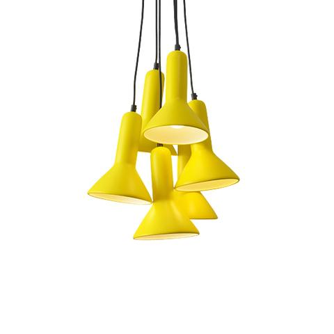Подвесной светильник копия TORCH S1 by Sylvain Willenz (желтый, 6 плафонов)