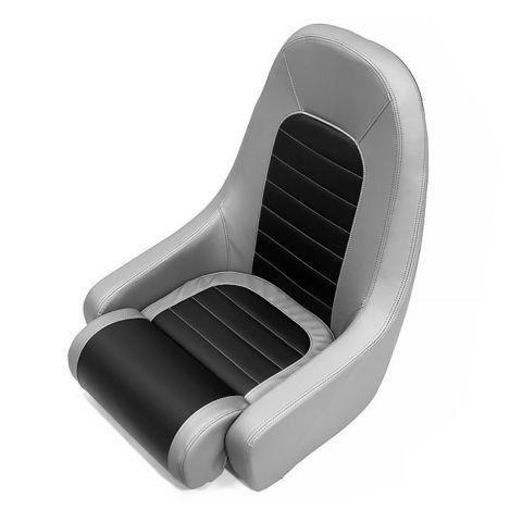Сиденье мягкое COBRA Flip-Up, серо-черное