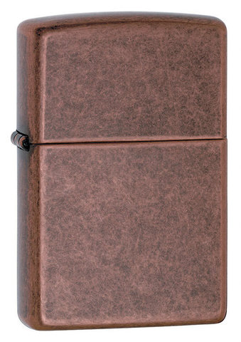 Зажигалка Zippo с покрытием Antique Copper, латунь/сталь, медная, матовая, 36x12x56 мм