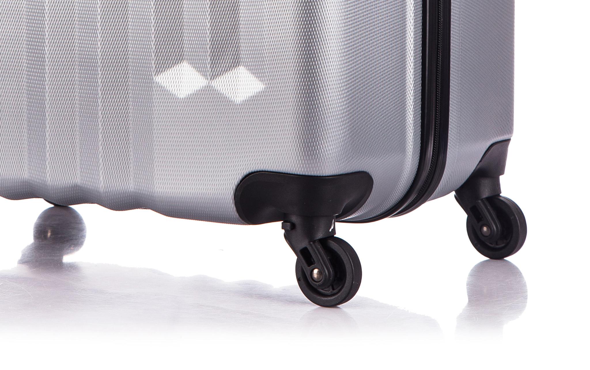 Чемодан со съемными колесами L'case Phuket-24 Серебро (M)