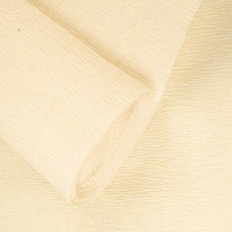 Бумага гофрированная, цвет 603 слоновая кость, 180г, 50х250 см, Cartotecnica Rossi (Италия)