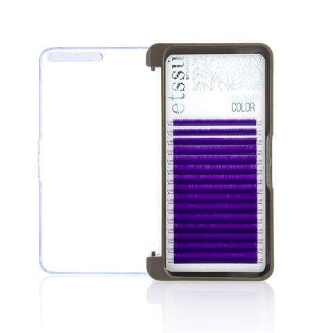 Ресницы Etssu Color Violet 15 линий MIX