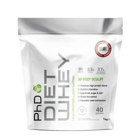 PhD Diet Whey, диетическая протеиновая смесь, вкус Шоколад/Апельсин, 1 кг.