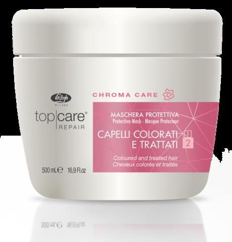 Восстанавливающая защитная маска для окрашенных, поврежденных волос – «Top Care Repair Chroma Care Protective Mask» 500 мл
