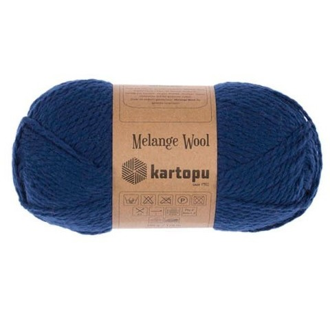 Пряжа Kartopu Melange Wool арт. 5016 морская волна