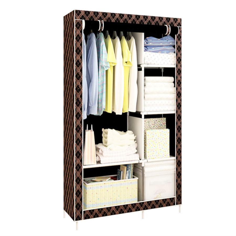 Органайзеры и кофры для одежды и обуви Складной тканевый шкаф Storage Wardrobe (90х45х165см) skladnoy-tkanevyy-shkaf-storage-wardrobe.jpg