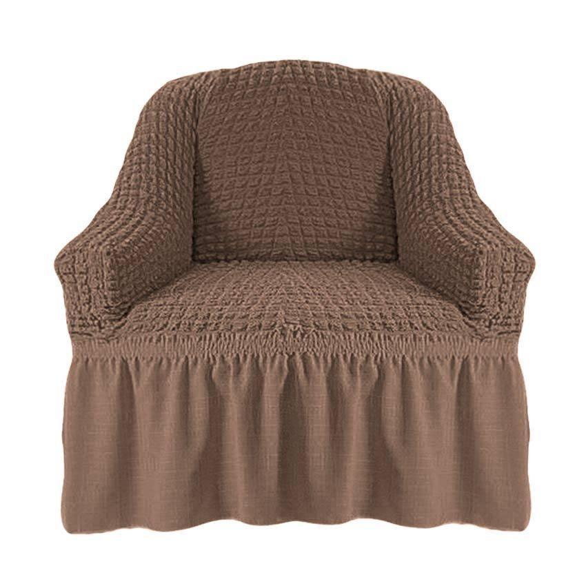 Чехол на кресло, какао