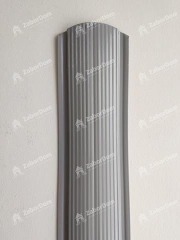 Евроштакетник металлический 110 мм RAL 7004 фигурный 0.5 мм