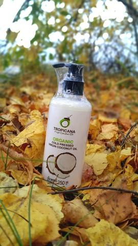 Органическое кокосовое масло холодного отжима.