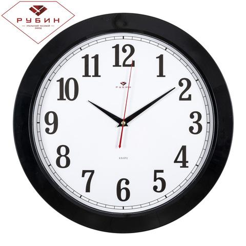 3960-102 (10) Часы настенные круг d=38,5см, корпус черный