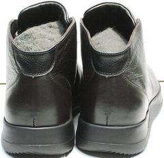 Мужские осенние кроссовки ботинки из кожи Ikoc 1770-5 B-Brown.
