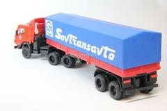 KAMAZ-5410 with semitrailer ODAZ with awning Sovtransavto red-blue Elecon 1:43