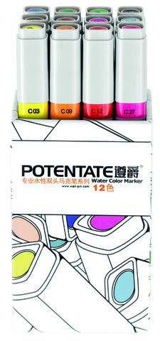 Набор маркеров Potentate Bag Set, 12 цветов, Water based