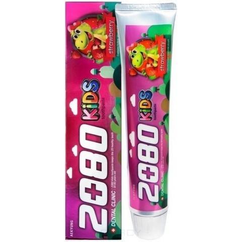 Зубная паста детская клубничная Aekyung Dental Clinic 2080 KIDS Strawberry 80 гр