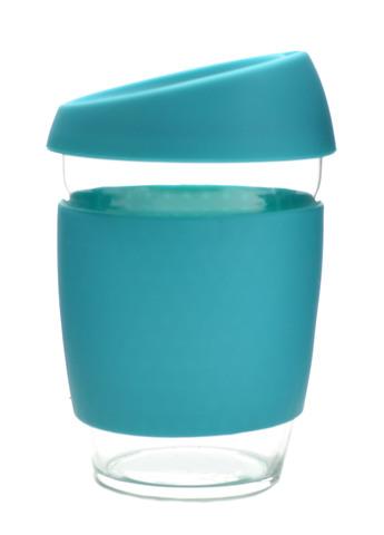 Кружка Coffee Cup из боросиликатного стекла 340 мл. голубой
