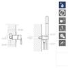 Встраиваемый смеситель для душа с душевым комплектом ATICA K7518011 на 1 выход - фото №2