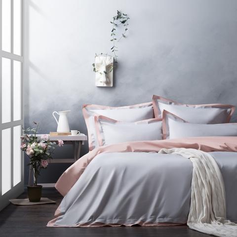 Комплект постельного белья сатин Мелба серый