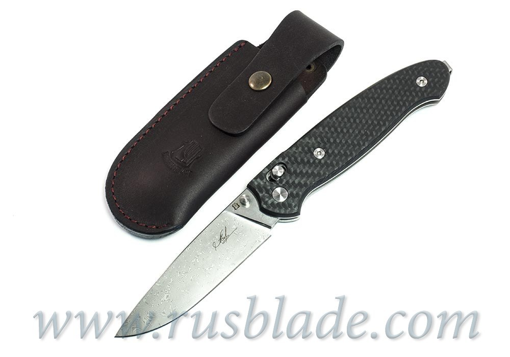 Cheburkov Scout Damascus Folding Knife 2017