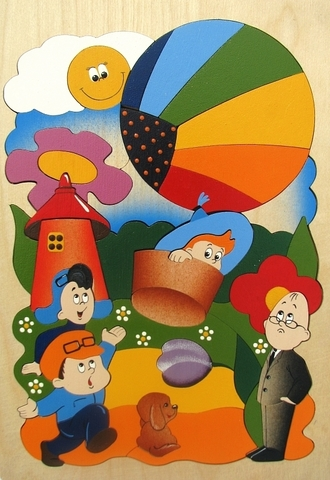 Мозаика-вкладыш Незнайка на воздушном шаре, Крона, арт. 143-030