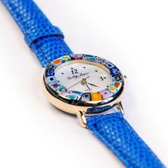 Синие женские наручные часы