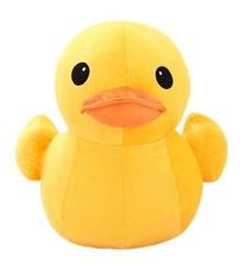 Желтая утка большая мягкая игрушка