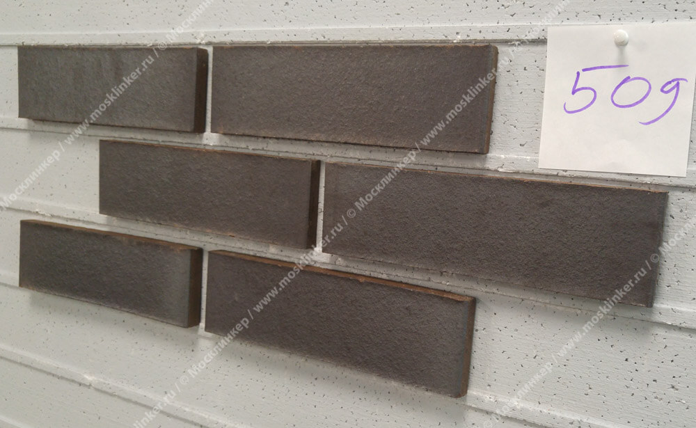 Feldhaus Klinker - R509NF14, Galena Geo Ferrum Liso, 240x14x71 - Клинкерная плитка для фасада и внутренней отделки