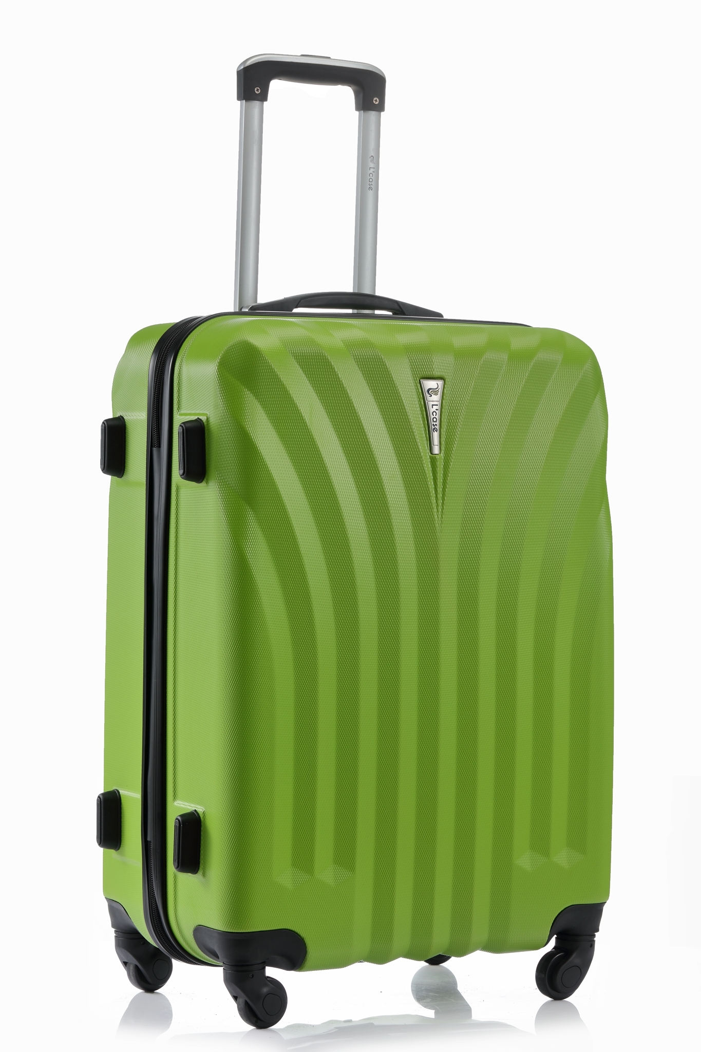 Чемодан со съемными колесами L'case Phuket-24 Зеленый (M+)