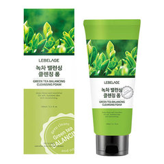 Lebelage Green Tea Balancing Cleansing Foam - Балансирующая пенка для умывания с зеленым чаем