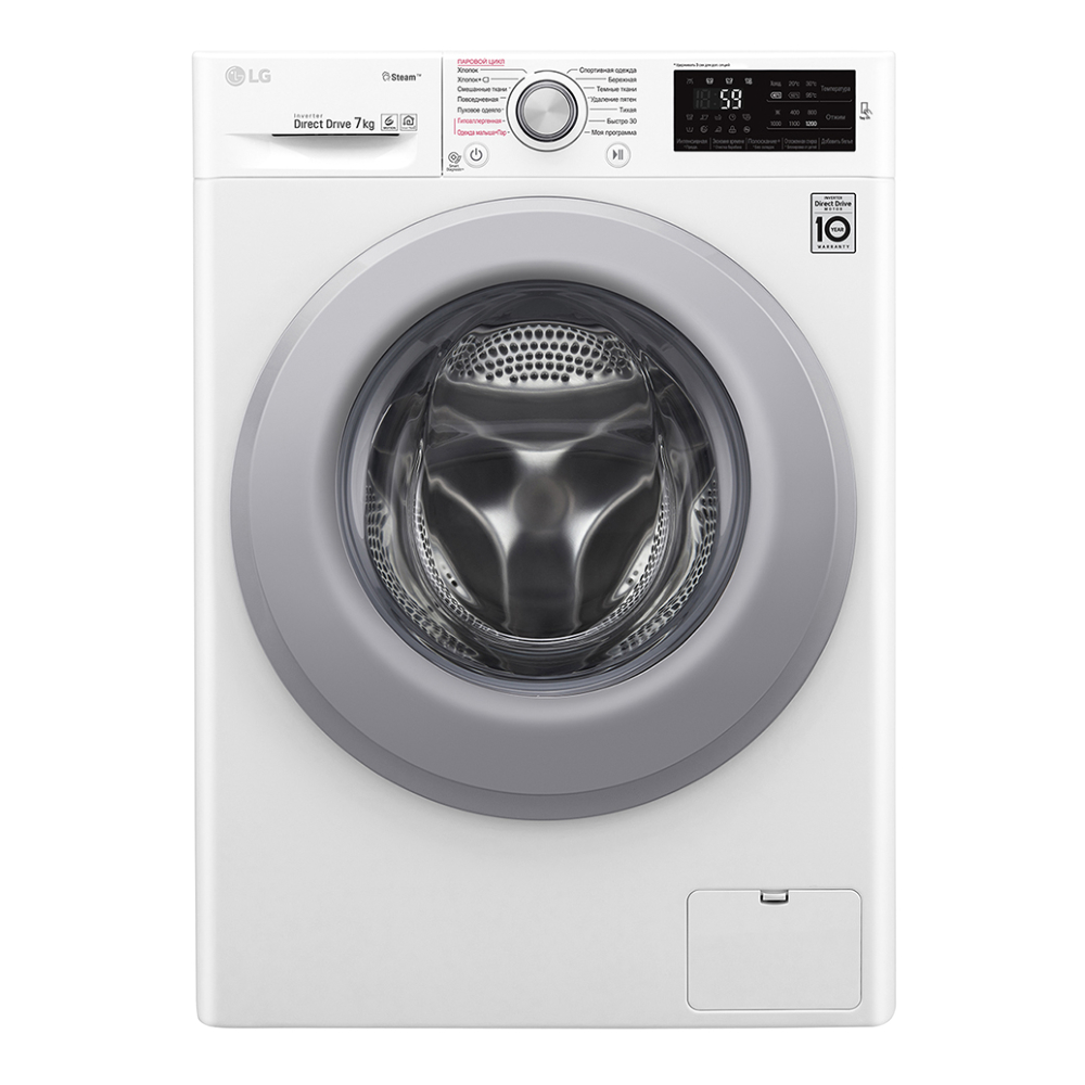 Узкая стиральная машина LG с функцией пара Steam F2M5HS4W фото