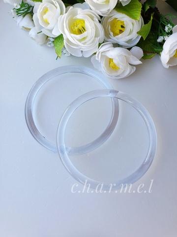 Ручки для сумок пластик прозрачные 12 см, 2 шт