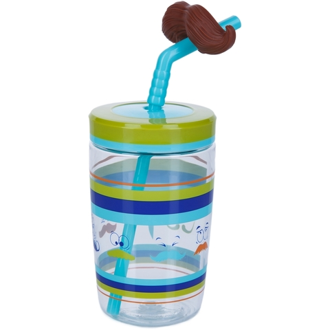 Стакан детский с трубочкой Contigo Funny Straw (0,47 литра), голубой