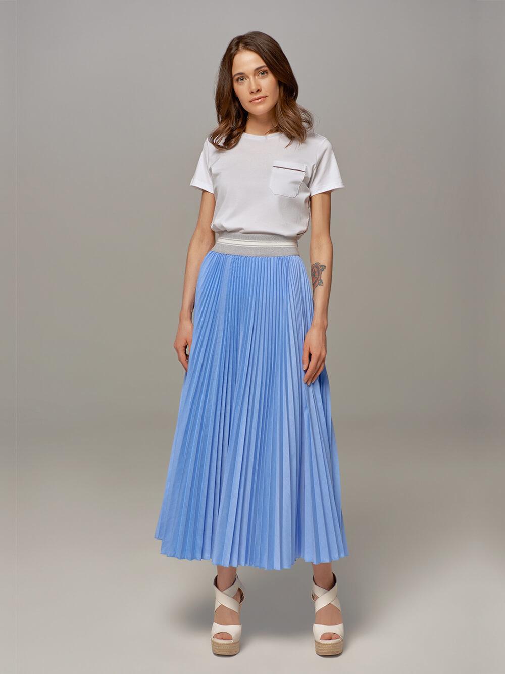Женская юбка цвета деним Eleventy - фото 1