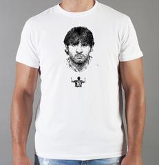 Футболка с принтом Лионель Месси (Lionel Messi) белая 0017