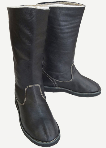 Ичиги кожаные без шнуровки