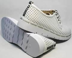 Летние женские туфли с белой подошвой GUERO G177-63 White.