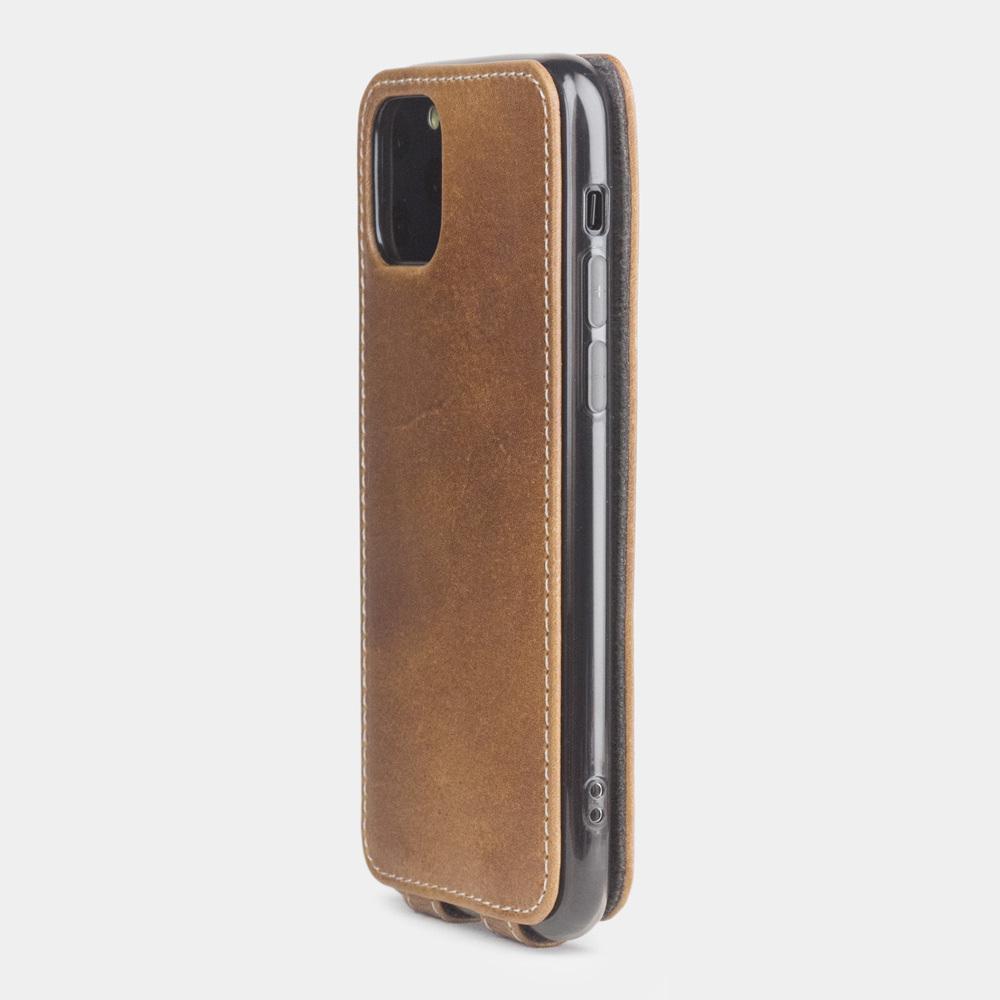Чехол для iPhone 11 Pro Max из натуральной кожи теленка, цвета винтаж